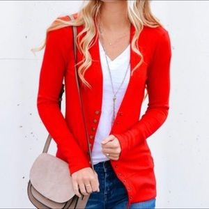 Sweaters - PLUS SIZE Snap button Front Cardigan